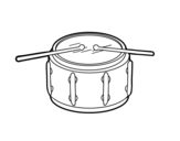 Side drum coloring page