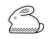 Side easter bunny coloring page