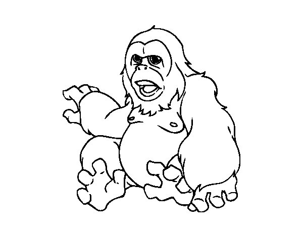 Simian coloring page