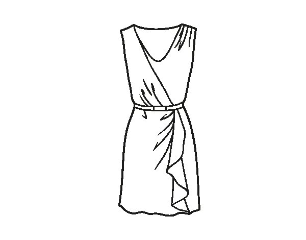 Simple dress coloring page