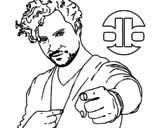 Singer David Bisbal coloring page