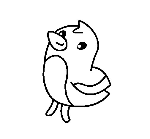 Sketch the chick coloring page