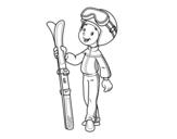 Dibujo de Ski