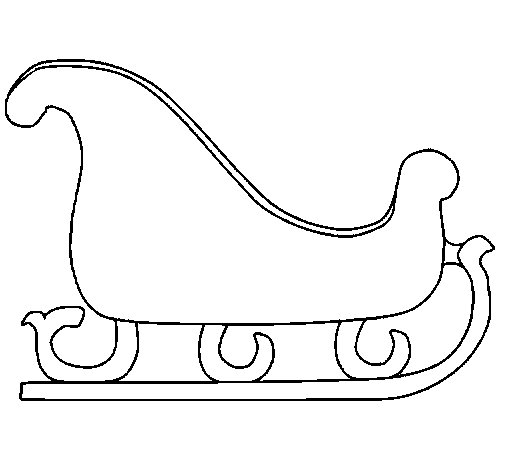 Sleigh coloring page