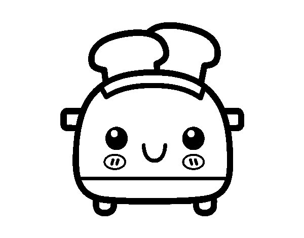 Slice bread toaster coloring page