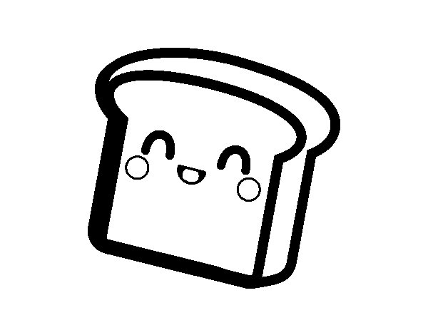 Slice of bread coloring page
