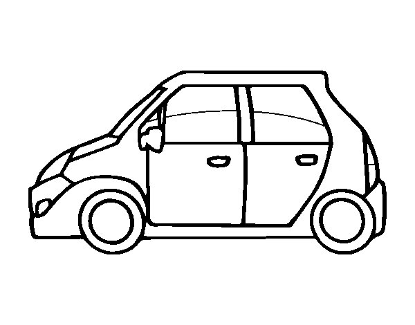 Small car coloring page