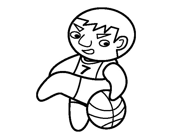Small forward of basquet coloring page