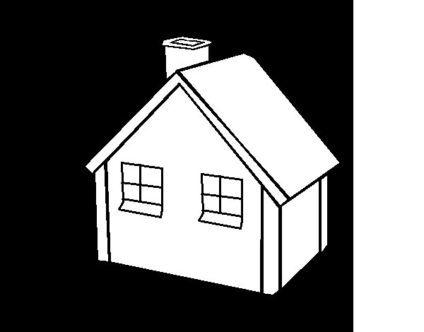 Small house coloring page