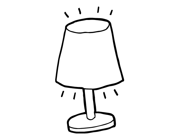 small lamp coloring page