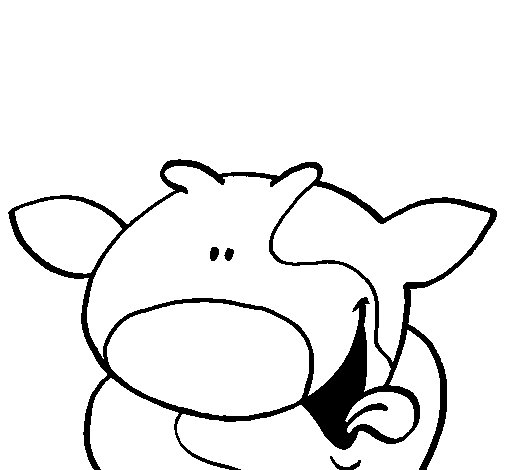 Smiling cow coloring page