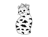 Smug kitten coloring page