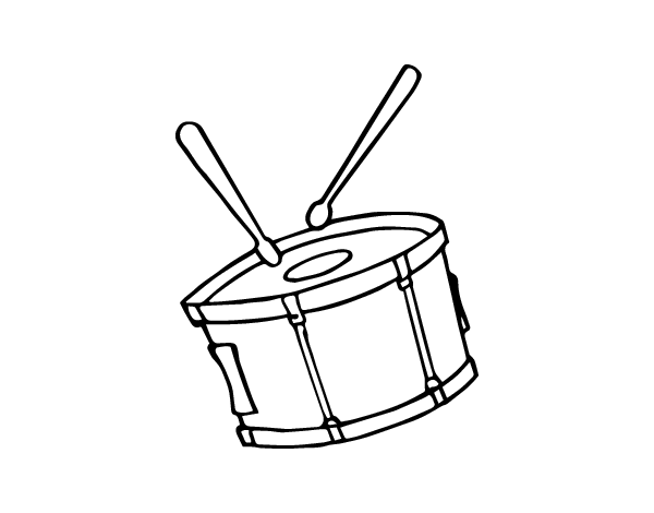 Free coloring pages of snare