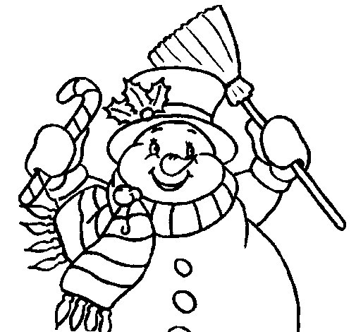 Snowman with scarf coloring page  Coloringcrewcom