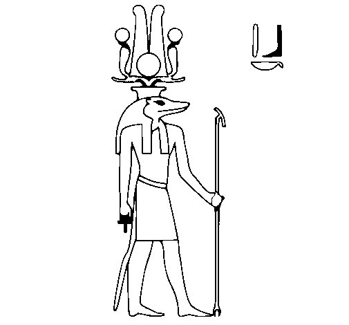 Sobek coloring page