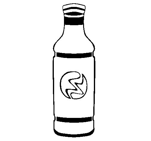 Soft-drink bottle coloring page