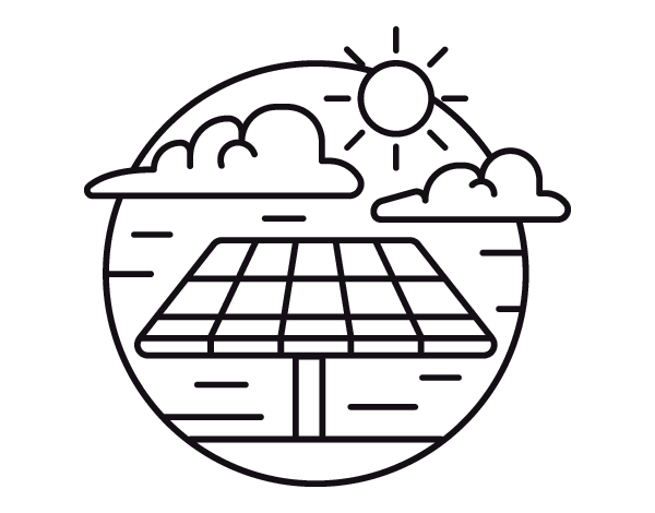 solar energy coloring page