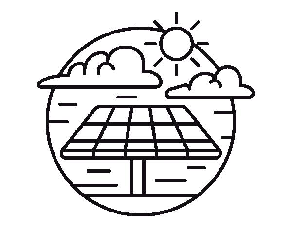 Solar Energy coloring page - Coloringcrew.com