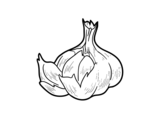 Some garlic coloring page
