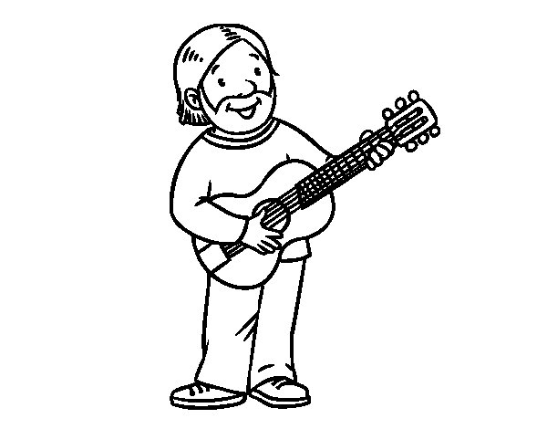 Songwriter coloring page