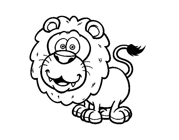 Southwest African lion coloring page