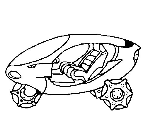 Space bike coloring page