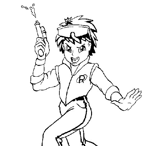 Space boy coloring page