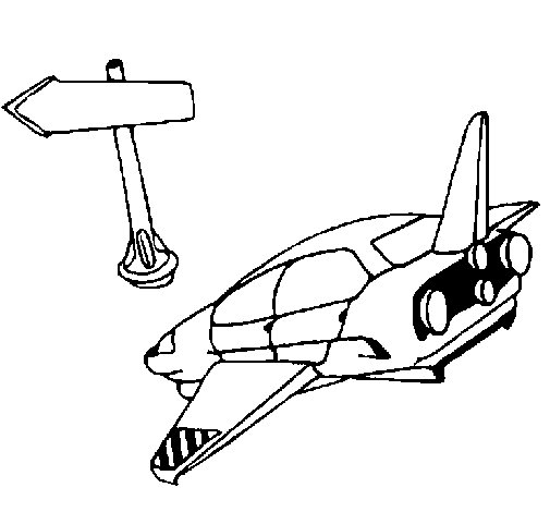 Space traffic coloring page