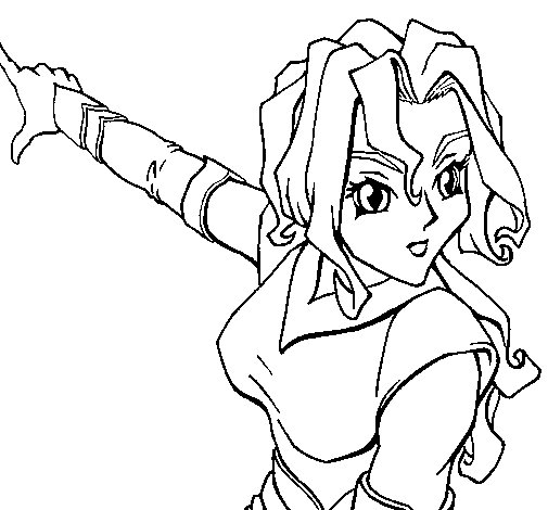 Space warrior coloring page