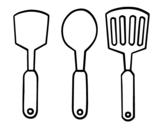 spatulas coloring page