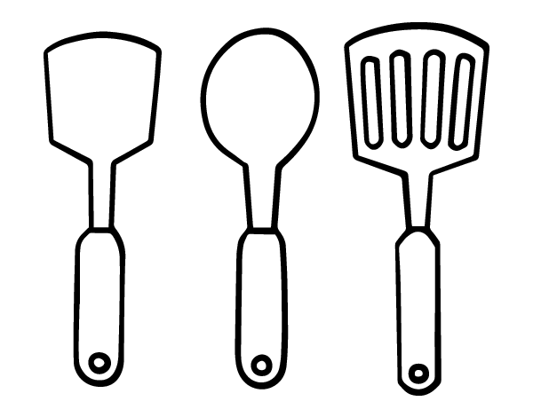 Kitchen Utensils Coloring Pages