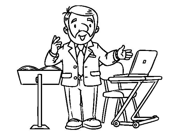 Speaker coloring page
