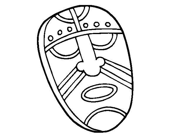 Spellbound Mask Coloring Page