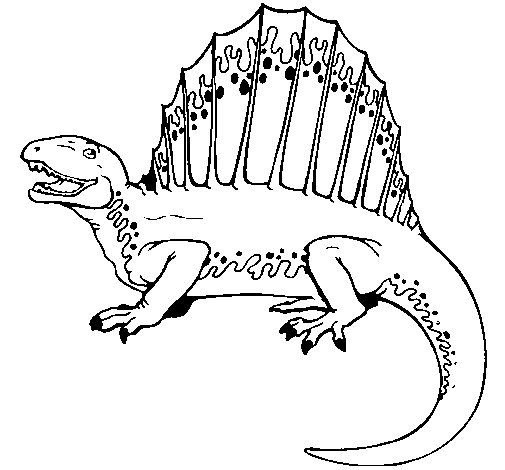 Spinosaurus coloring page