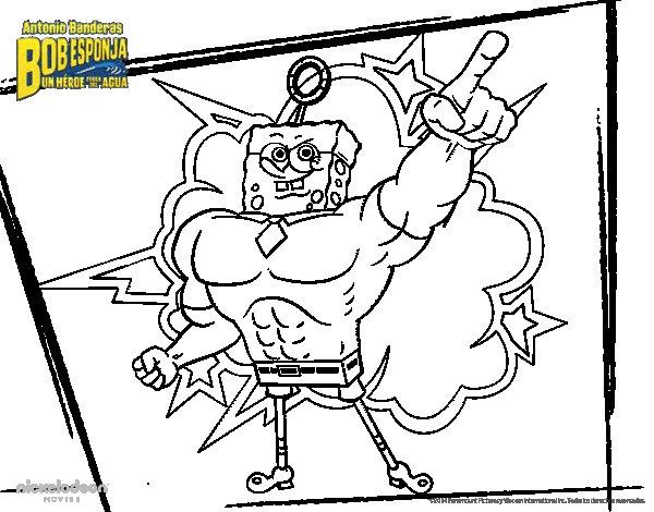 SpongeBob - Invincibubble coloring page