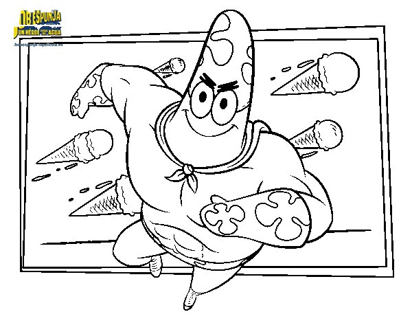 SpongeBob - Superawesomeness to the attack coloring page