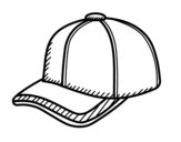 Sport cap coloring page
