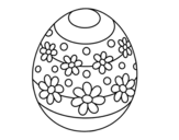 Spring easter egg coloring page