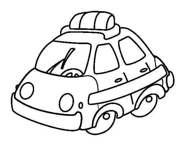Squad car coloring page