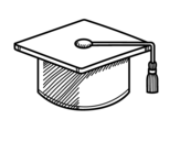 Square academic cap coloring page