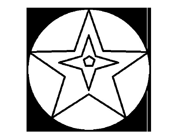 Star ball coloring page