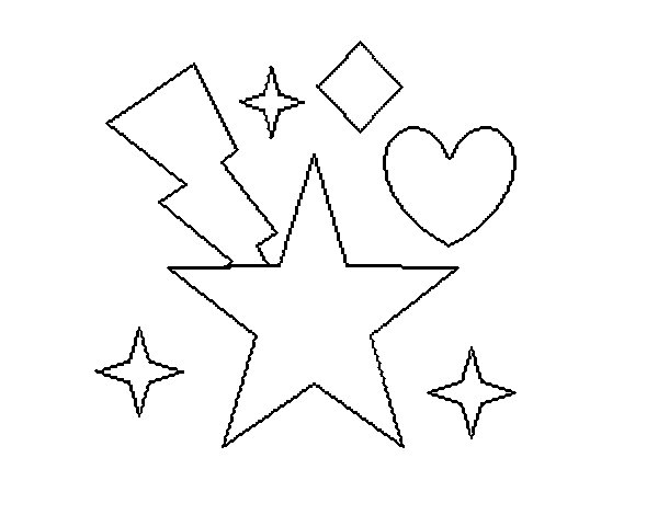 Starlit 2 coloring page