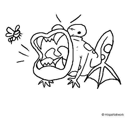 Starving toad coloring page