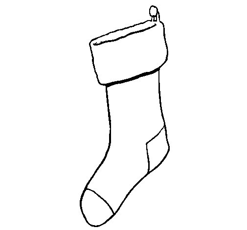 Stocking with no presents coloring page