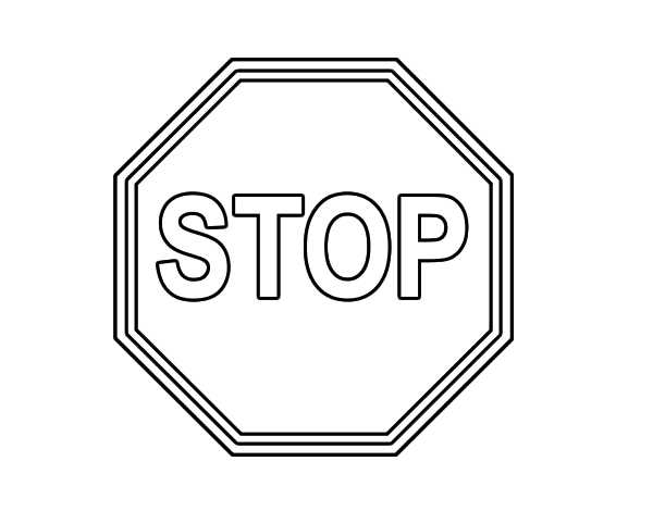 Stop coloring page for Stop sign coloring pages