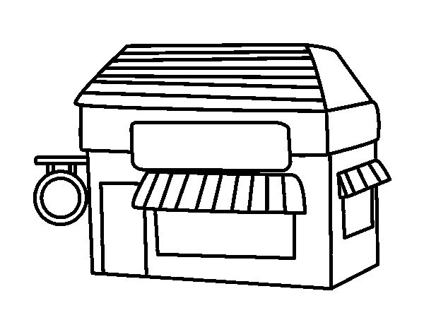 store coloring pages - photo#25
