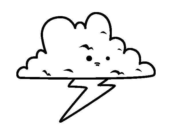 Storm coloring page