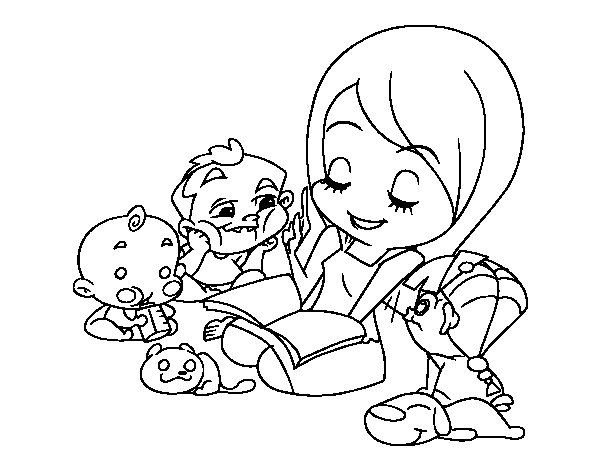 Storyteller coloring page