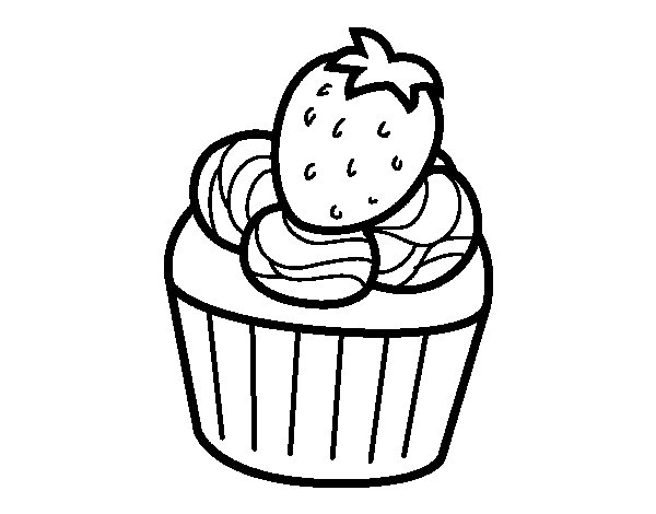 Strawberry chocolate coloring page