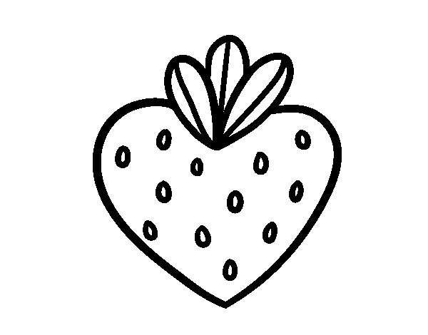 Strawberry heart coloring page